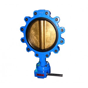 Lug butterfly valve brass  bronze disc